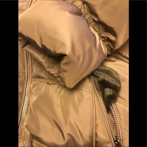 Laundry By Shelli Segal Jackets & Coats - Laundry by Shelli segal down fur hood  taupe,NWOT